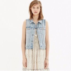 Madewell Denim Button Vest Layering Jacket